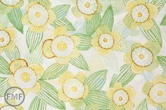 Half Yard Sweet Life Pure Delight in Green and Blue, Cori Dantini, Blend Fabrics, 100% Cotton Fabric, 112.102.07.1