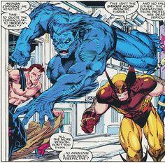 gambit. beast. wolverine. Jim Lee