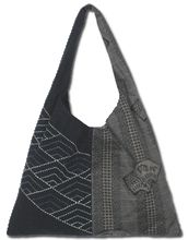 Original Aika Sashiko bag pattern and design by Miho Takeuchi. Shoulder Sling.