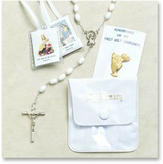 White Communion Unit by Hirten Communion Sets, First Holy Communion, Gifts For Family, Dog Tag Necklace, Catholic, The Unit, Shopping, Black, Black People