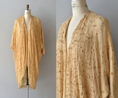 Golden Dust silk robe  1920s silk robe  vintage 20s by DearGolden, $184.00