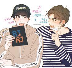 Namjin, Baby Fan, Bts Fanfiction, Bts Drawings, Drawing Clothes, Bts Fans, Kpop Fanart, Worldwide Handsome, Make A Person