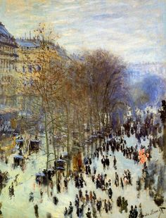 ۩۩ Painting the Town ۩۩ city, town, village & house art - Claude Monet | Boulevard of Capucines, 1873-4 #impressionism #art #painting #oil