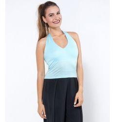 Ελαστικό Τοπ Κολάρο - Γαλάζιο Basic Tank Top, Tank Tops, Women, Fashion, Moda, Halter Tops, Women's, Fashion Styles, Woman