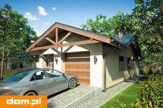 DOM.PL™ - Projekt domu Mój Dom Anatol II CE - DOM BM1-45 - gotowy koszt budowy Shed, Outdoor Structures, House Decorations, Barns, Sheds
