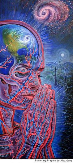 """""""There is more wisdom in your body than in your deepest philosophy."""" ― Friedrich Nietzsche _ Art by Alex Grey Alex Gray Art, Tenacious D, Psy Art, Visionary Art, Sacred Geometry, Geometry Art, Psychedelic Art, Art Design, Trippy"""
