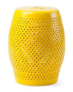 Pierced Ceramic Garden Stool