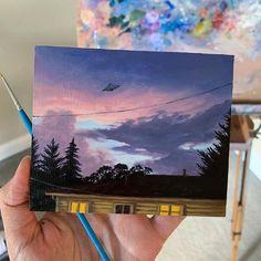 Cute Canvas Paintings, Small Canvas Art, Mini Canvas Art, Aesthetic Painting, Aesthetic Drawing, Ideias Diy, Wow Art, Acrylic Art, Oeuvre D'art