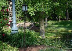 Solar Lantern Frosted Glass Tiki Pole