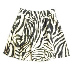 Popupshop Roma Skirt In Zebra Print | Scandi Mini