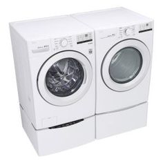 LG Electronics 27 in. Laundry Pedestal with Storage Drawers for Washers and Dryers in White-WDP4W - The Home Depot Lg Washer And Dryer, Stackable Washer And Dryer, Injection Mold Design, Kenmore Washer, Laundry Pedestal, Laundry Supplies, Lg Electronics, Front Load Washer, Drawer Dividers