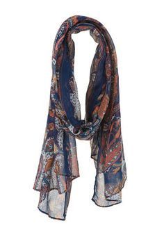 Multi color paisley print scarf (original price, $14) available at #Maurices