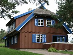 The house of famous German writer, Thomas Mann, in Nida, Lithuania