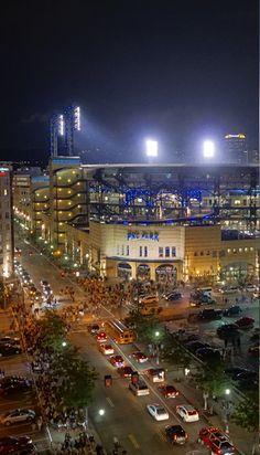 PNC Park at night.  Let's go Buccos!