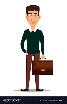 Young handsome smiling businessman in smart vector image on VectorStock Cartoon Man, Cartoon People, People Illustration, Motion Design, Kids And Parenting, Cartoon Characters, Avatar, Vector Free, Character Design