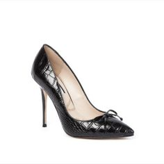 Madeline Black Croc.What a Great office shoe.#zapatos #knutsford