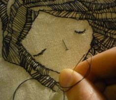 Вышивка булавками / Декор / ВТОРАЯ УЛИЦА - Выкройки, мода и современное рукоделие и DIY Fabric Art, Fabric Crafts, Sewing Crafts, Sewing Projects, Sewing Art, Diy Crafts, Embroidery Art, Cross Stitch Embroidery, Embroidery Patterns