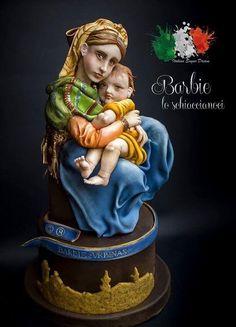 Madonna della Seggiola (Madonna of the chair) - Raffaello Sanzio - Italian Sugar Dream Collaboration by Barbie lo schiaccianoci (Barbara Regini)