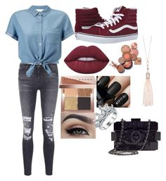 """""""Untitled #29"""" by hello22kitty02 on Polyvore featuring J Brand, Miss Selfridge, Vans, Lime Crime, Bobbi Brown Cosmetics, Chanel and Oasis"""