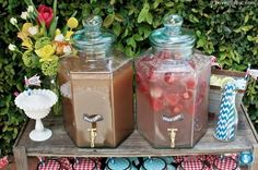 Sweet tea summer party drinks decor sweet outdoors country american july