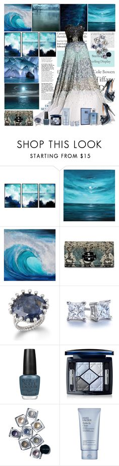 """""""Prom theme: Ocean"""" by shaneeeee ❤ liked on Polyvore featuring Tiffany & Co., Zuhair Murad, Friis & Company, Blue Nile, OPI, Christian Dior, Bobbi Brown Cosmetics, Estée Lauder and Thierry Mugler"""
