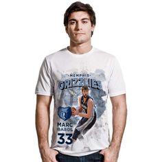Levelwear Men's Memphis Grizzlies Marc Gasol Center Court White T-Shirt, Size: Medium, Team