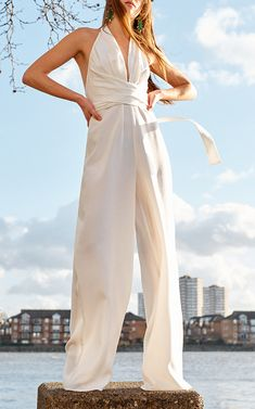 white jumpsuit All white chic summer style