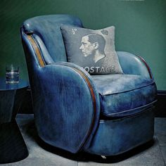 she moves the furniture.com  : Interiors: Gentlemen's Club Chair and vintage cushion