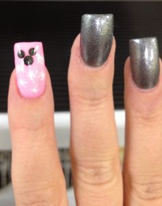 Love this design, I'd just have my nails shorter and would swap out the pink for red or do a darker pink.