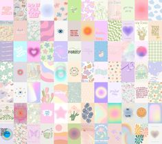 Aesthetic Pastel Poster Wall Collage Set, Danish Pastel Wall Decor, Inspiration Teen Bedroom Soft Wall Collage Kit 84 PCS (DIGITAL DOWNLOAD)