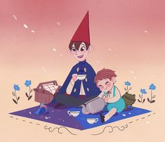 Constant — Over The Garden Wall [Chapter Over The Garden Wall, Animated Cartoons, Drawing Challenge, So Little Time, Picture Wall, Cartoon Network, Blue Bird, Cute Art, Tea Party