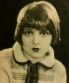 Clara Bow // Hair: red - Eyes: brown - Height 160 cm - Background: English, Scotch-Irish - Nationality: American