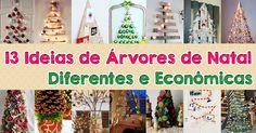 Árvores de Natal Diferentes e Econômicas