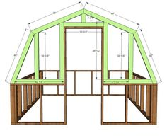 Ana White Build a Barn Greenhouse DIY Project and Furniture Plans Diy Greenhouse Plans, Backyard Greenhouse, Chickens Backyard, Greenhouse Wedding, Cheap Greenhouse, Pergola Plans, Ana White, Easy Diy Projects, Garden Projects