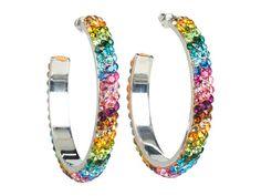 Crystal Hoop Earrings Large by Nocona