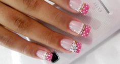Nail Art Images and Tutorials: 5 creative nail art designs Creative Nail Designs, Creative Nails, Nail Art Designs, Gorgeous Nails, Pretty Nails, Nail Art Images, Disney Nails, French Tip Nails, Hot Nails