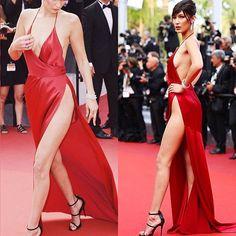 Agora, as sensuais! Vamos começar com tudo: Bella Hadid estava poderosa com um mega fenda em um vestido assinado por Alexandre Vauthier