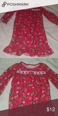 Dora the explorer pajama nightgown  24 months Great condition  24 months 100% polyester   Storage item#:A1 Nickelodeon Pajamas Nightgowns
