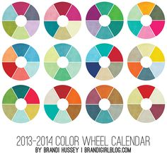 2013-14 Color Wheel Calendar | Brandi Girl Blog
