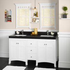 Ronbow 050524-3 Hampton 60 in. Double Bathroom Vanity Set with TechStone Top - RON803