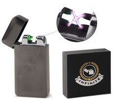 AmazonSmile : Infinite Lighters Electronic Arc Lighter - Rechargeable Lighter With USB Adapter - Windproof & Flameless Cigarette Lighter With Automatic Sensor - Instant Fire- Luxurious Box Included : Sports & Outdoors