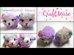 Hello everyone, today's tutorial is for an adorable Kawaii Alpaca that I have made inpsired by the tsum tsum style. It's a little fluffy ball of goodness and. Rainbow Loom Animals, Rainbow Loom Patterns, Rainbow Loom Creations, Rainbow Loom Bands, Rainbow Loom Charms, Rainbow Loom Bracelets, Rubber Band Crafts, Rubber Bands, Diy Bracelets Elastic