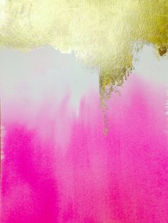 Abstract Painting 9x12 Pink Painting by JenniferFlannigan