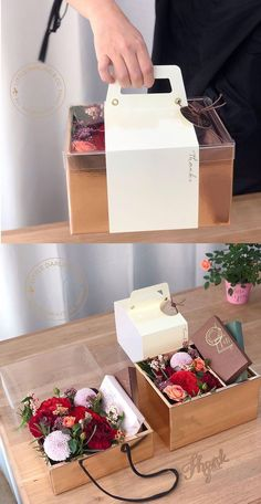 Cake Boxes Packaging, Dessert Packaging, Bakery Packaging, Flower Packaging, Food Packaging Design, Gift Packaging, Cookie Packaging, Flower Box Gift, Flower Boxes