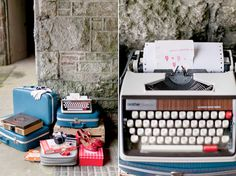 79 Ideas: wedding. I want to have a type writer for people to leave notes/baby names etc.