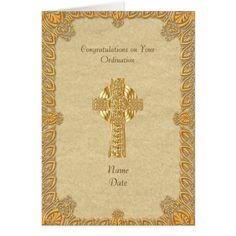 Card Gold Embossing Priesthood 60 Years Diamond Jubilee of Ordination