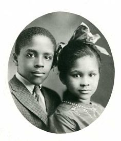 classicladiesofcolor:  Young Katherine Dunham and her brother, Albert Dunham Jr., ca. 1920.(Missouri Historical Society Photographs and Prints Collection)