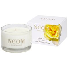 Neom Sumptuous Wild Rose & Neroli Scented Travel Candle
