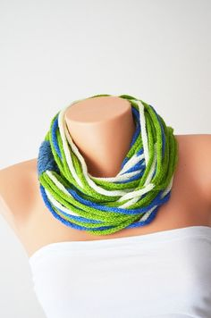 SCARF wool chain necklace  Infinity  Scarf Noodle by NesrinArt, $25.00