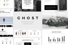 Present your works professional and clean with Ghost Minimal Powerpoint Template. With a clean, simple and contemporary design, cool photo layouts and creative slides to show your portfolio and your company.